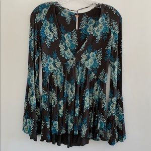 Free People Boho Style Top Size S/P